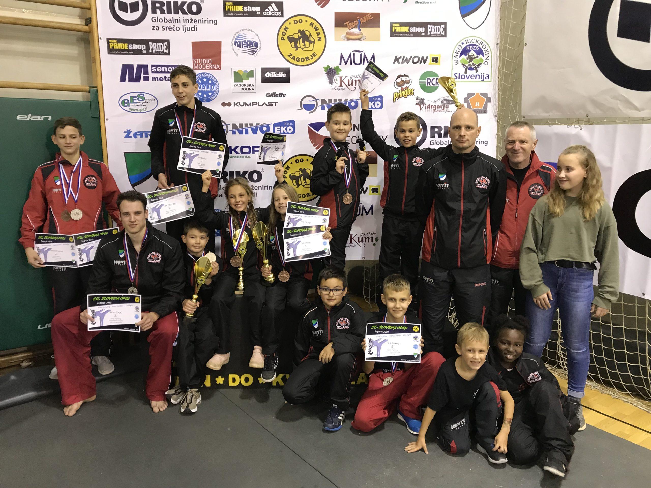 Trije pokali in deset medalj za Izlaški klub iz Slovenia Open